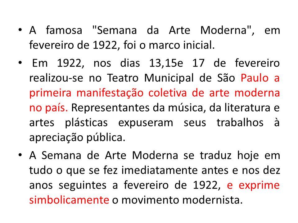 Qual é o principal objetivo dos artistas Modernistas .