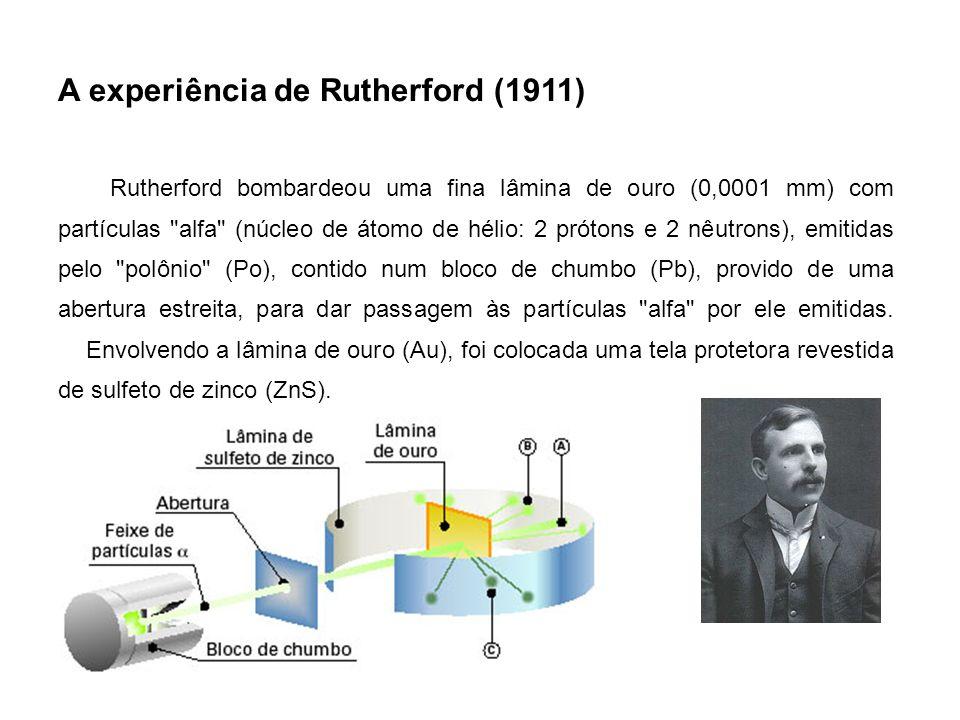 O próton (p) O físico alemão Eugen Goldstein (1850-1930), usando uma aparelhagem semelhante à de Thomson, observou o aparecimento de um feixe luminoso