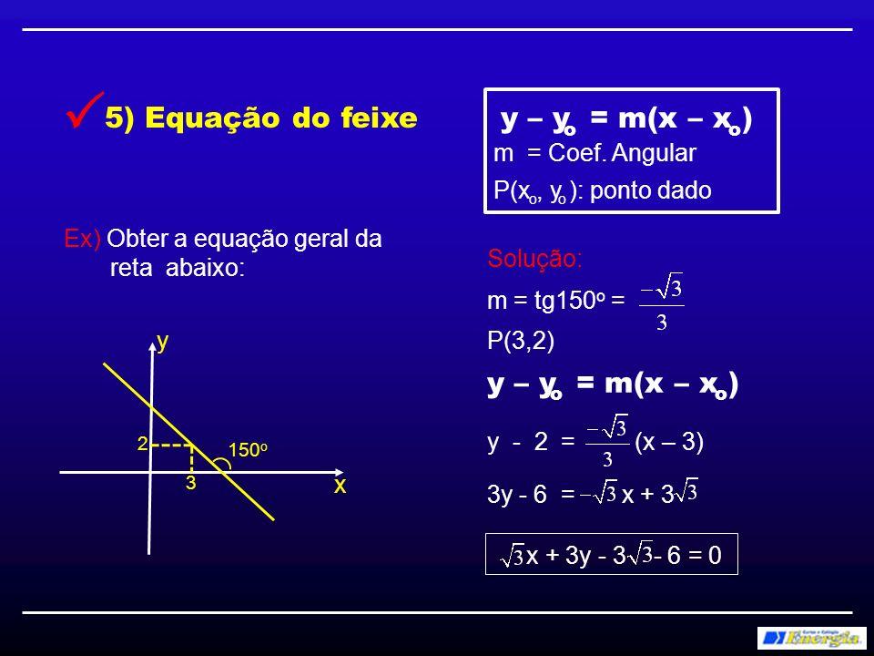 Anote aí: 1) Retas paralelas têm coeficientes angulares iguais 2) Retas perpendiculares têm coeficientes angulares inversos e opostos 5) Ângulo agudo entre duas retas: Quando uma delas for vertical: 3) Reta horizontal tem coeficiente angular igual a zero.