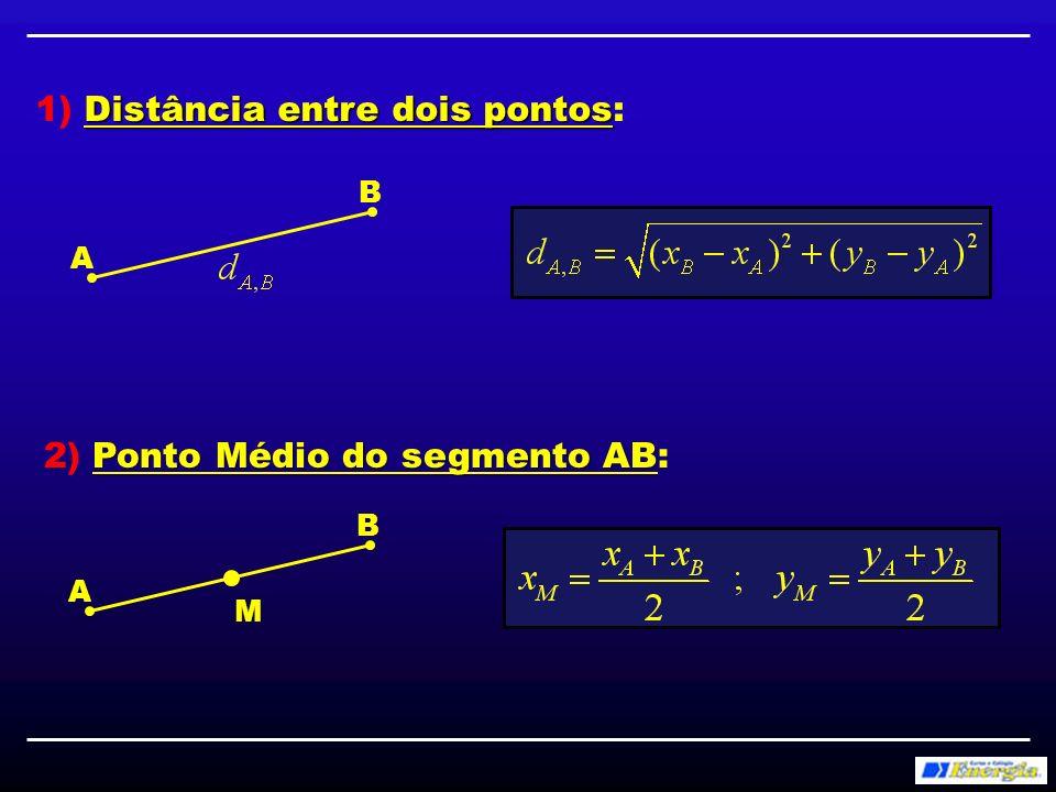 Baricentro de um triângulo ABC 3) Baricentro de um triângulo ABC: Baricentro = ponto de encontro das medianas C B A M1M1 M2M2 M3M3 Baricentro G