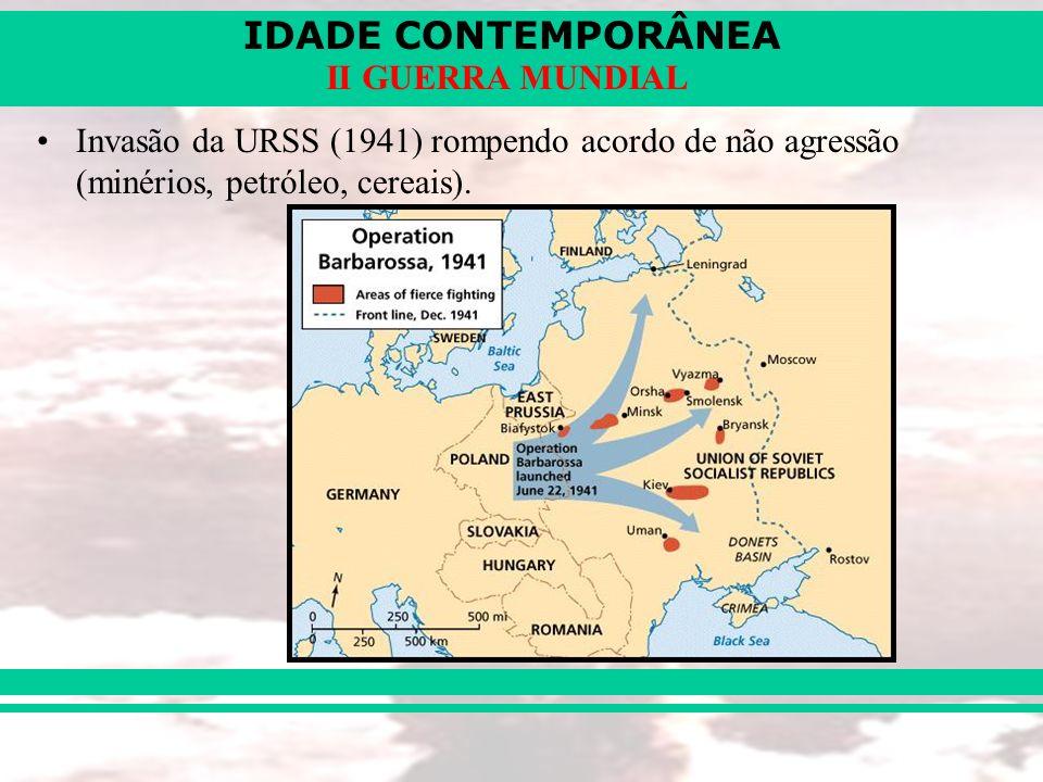 IDADE CONTEMPORÂNEA II GUERRA MUNDIAL 4 - Os acordos de paz: A) Conferência de Teerã (IRÃ – 1943): Libertação da FRA: EUA + ING.