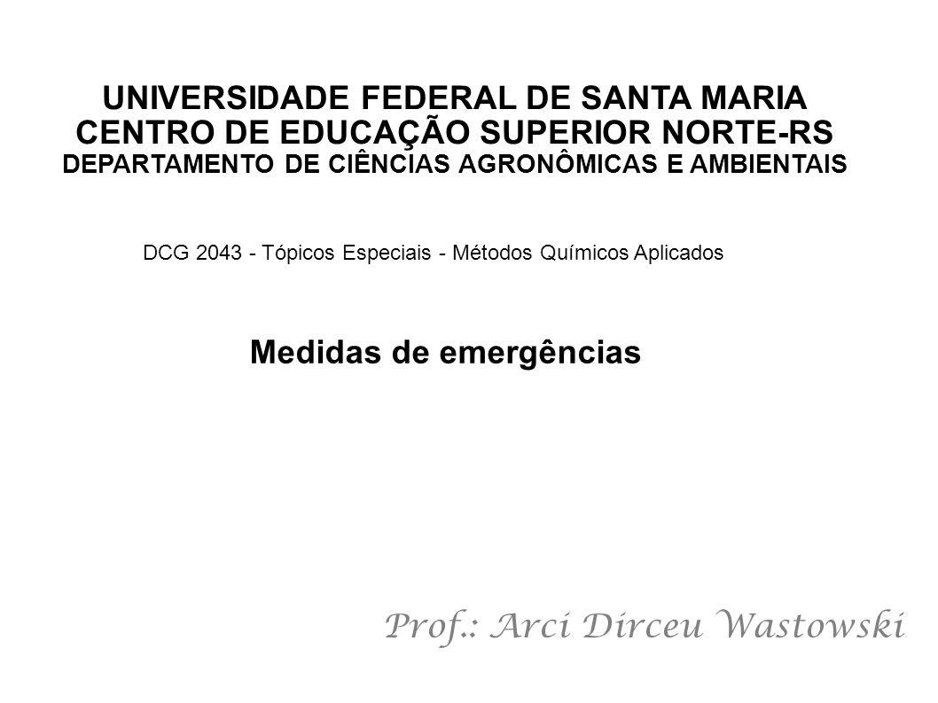 UNIVERSIDADE FEDERAL DE SANTA MARIA CENTRO DE EDUCAÇÃO SUPERIOR NORTE-RS DEPARTAMENTO DE CIÊNCIAS AGRONÔMICAS E AMBIENTAIS Prof.: Arci Dirceu Wastowsk