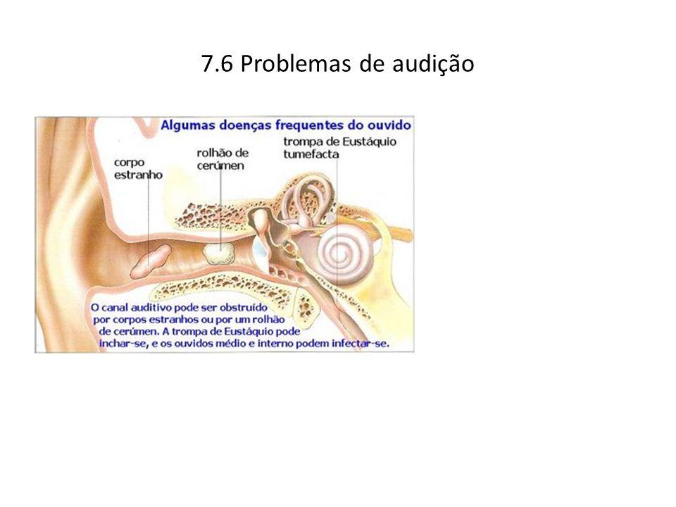 7.6 Problemas de audição