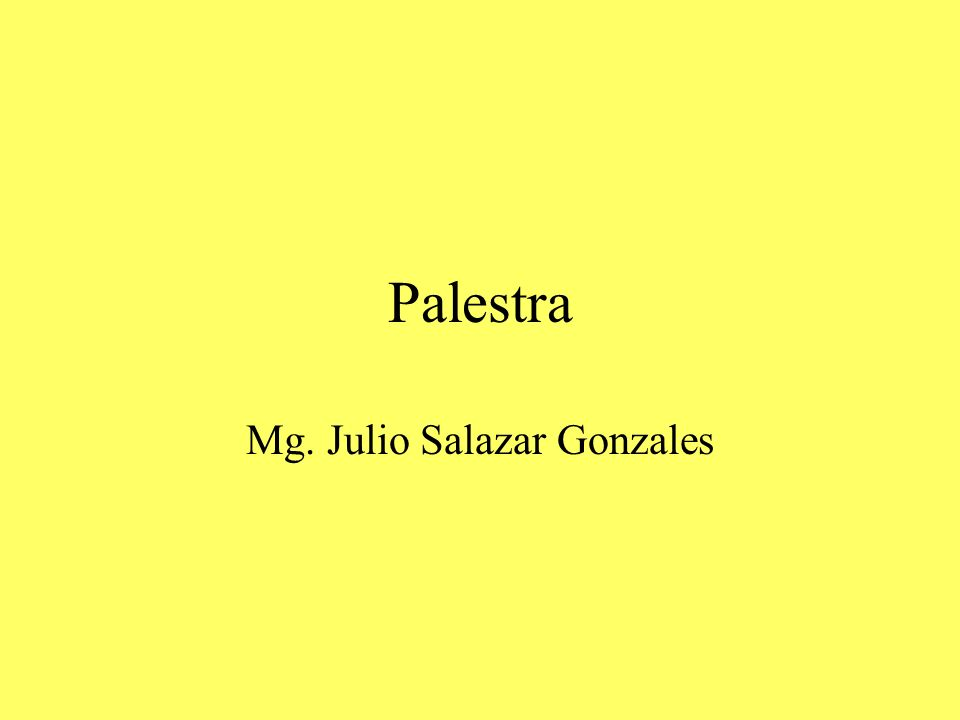 Palestra Mg. Julio Salazar Gonzales
