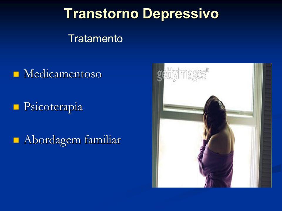 Transtorno Depressivo Medicamentoso Medicamentoso Psicoterapia Psicoterapia Abordagem familiar Abordagem familiar Tratamento