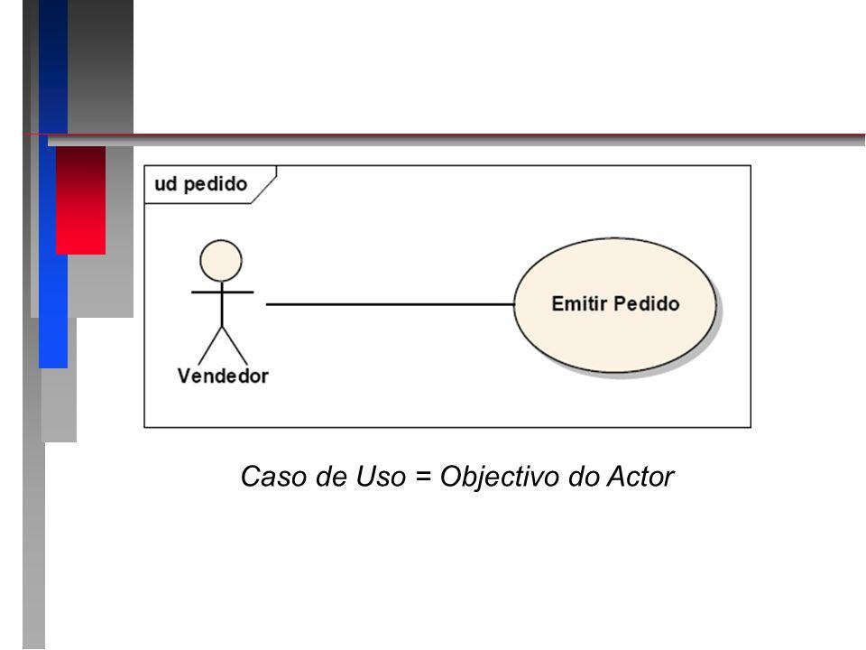 Caso de Uso = Objectivo do Actor