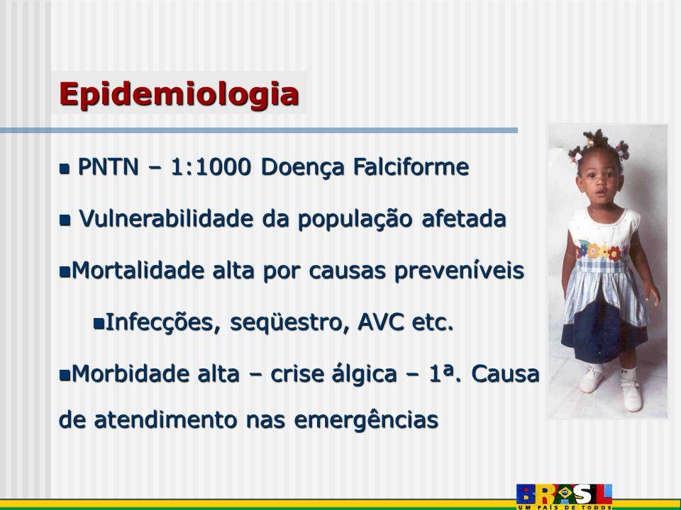PNTN – 1:1000 Doença Falciforme PNTN – 1:1000 Doença Falciforme Vulnerabilidade da população afetada Vulnerabilidade da população afetada Mortalidade