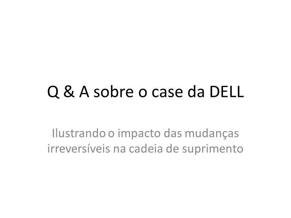 Q & A sobre o case da DELL Ilustrando o impacto das mudanças irreversíveis na cadeia de suprimento