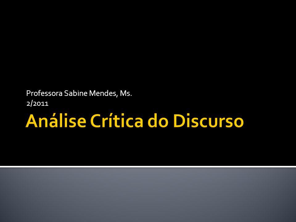 Professora Sabine Mendes, Ms. 2/2011