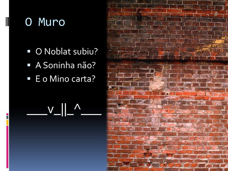O Muro O Noblat subiu? A Soninha não? E o Mino carta? ___v_||_^___