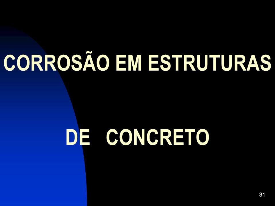CORROSÃO EM ESTRUTURAS DE CONCRETO 31