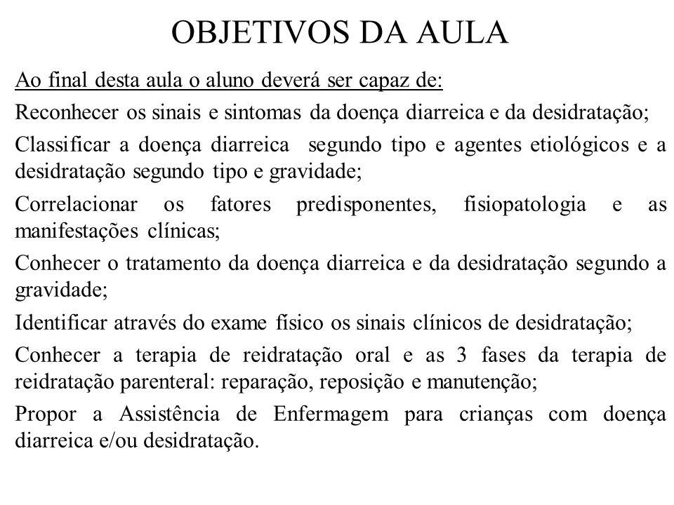 DOENÇAS DIARREICAS É uma das principais causas de morbidade e mortalidade infantil no Brasil, principalmente em crianças com menos de 6 meses de idade e que não estão em aleitamento exclusivo.