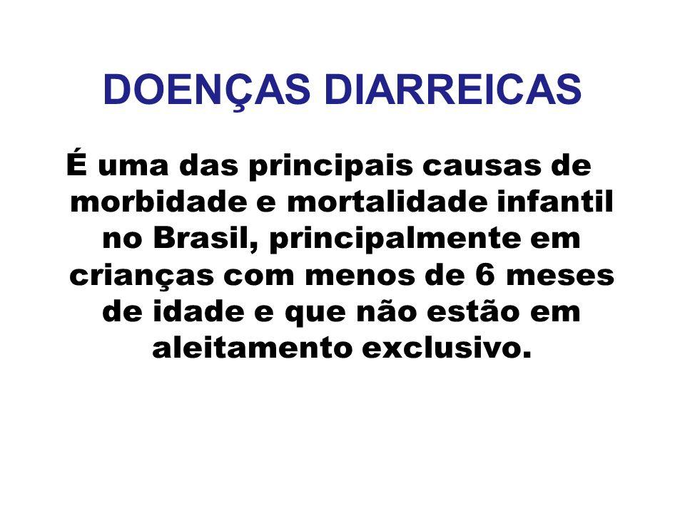 DOENÇAS DIARREICAS É uma das principais causas de morbidade e mortalidade infantil no Brasil, principalmente em crianças com menos de 6 meses de idade
