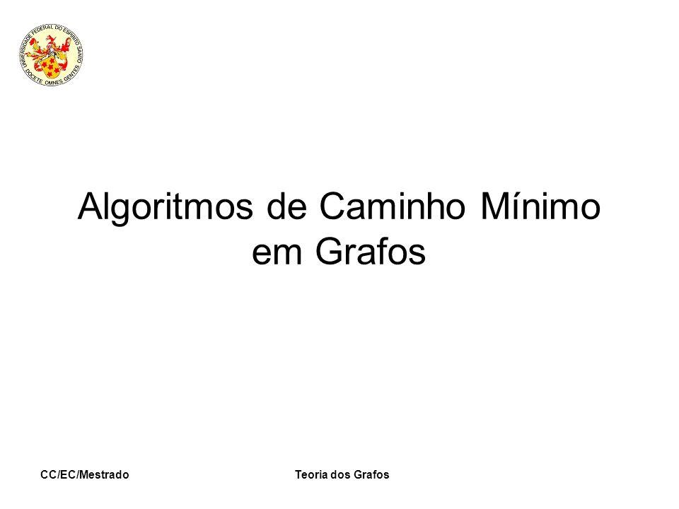 CC/EC/MestradoTeoria dos Grafos Algoritmos de Caminho Mínimo em Grafos