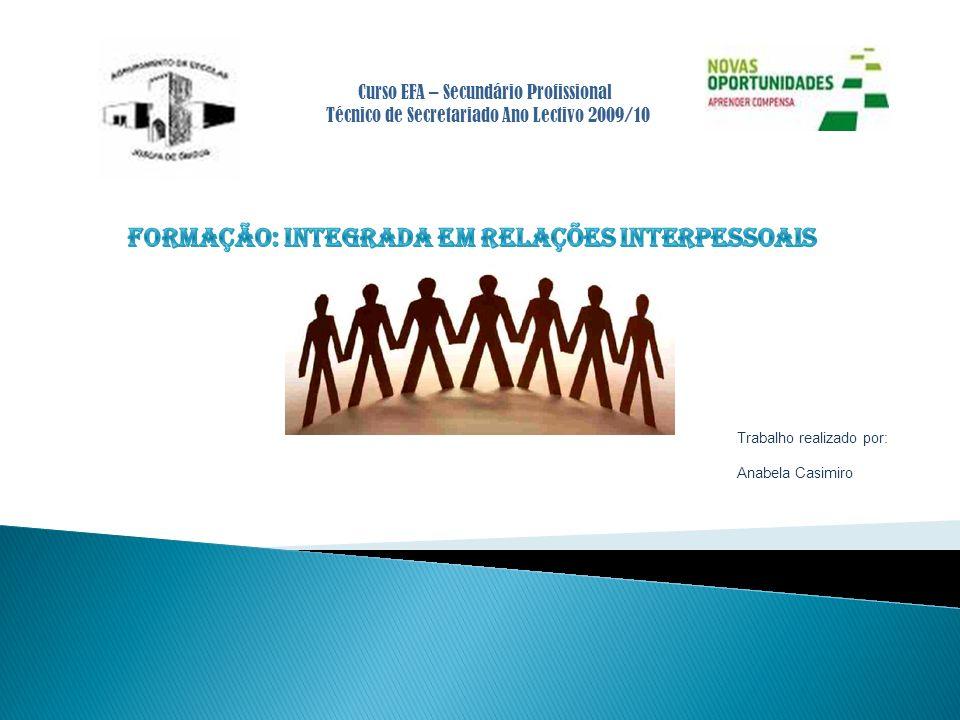 Curso EFA – Secundário Profissional Técnico de Secretariado Ano Lectivo 2009/10 Trabalho realizado por: Anabela Casimiro