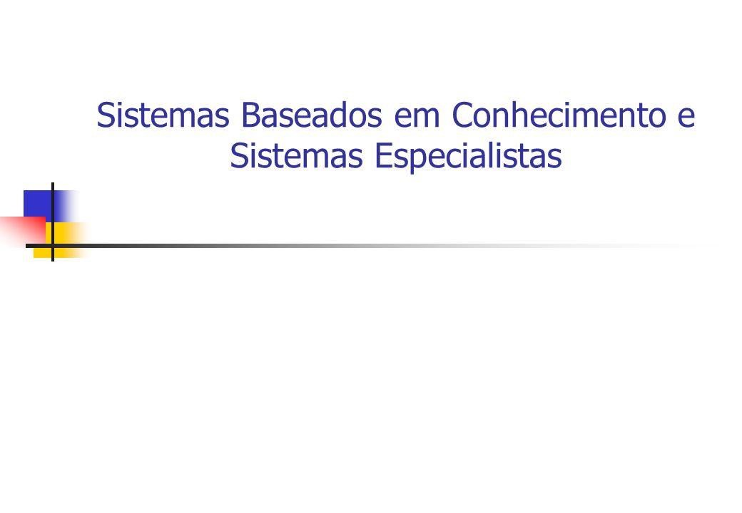 Sistemas Baseados em Conhecimento e Sistemas Especialistas