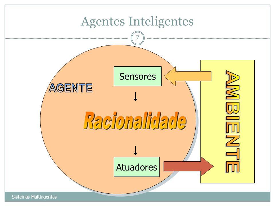 Agentes Inteligentes Sistemas Multiagentes 7 Sensores Atuadores