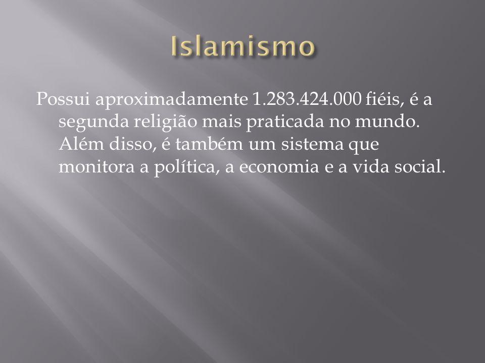Possui aproximadamente 1.283.424.000 fiéis, é a segunda religião mais praticada no mundo. Além disso, é também um sistema que monitora a política, a e