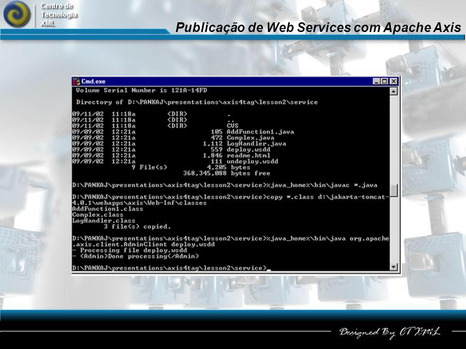 Publicação de Web Services com Apache Axis 32