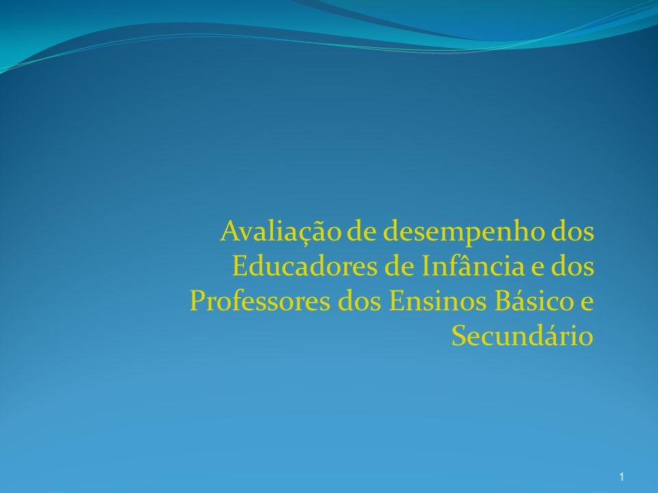 Avaliação de desempenho dos Educadores de Infância e dos Professores dos Ensinos Básico e Secundário 1