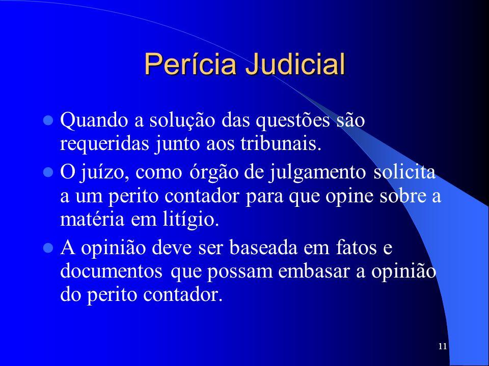 10 Perícia Arbitral A arbitragem oficial no Brasil é uma forma de justiça ainda em fase de implantação. Criada por meio da Lei N o. 9.307, de 23/09/96