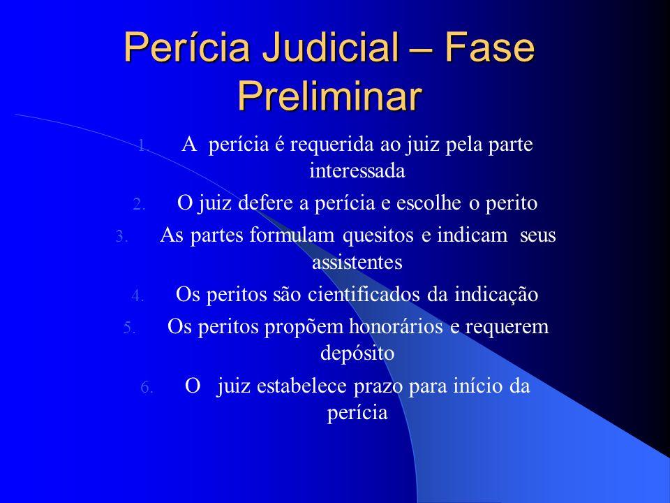 21 Ciclo da Perícia Judicial Fase Preliminar Fase Operacional Fase Final