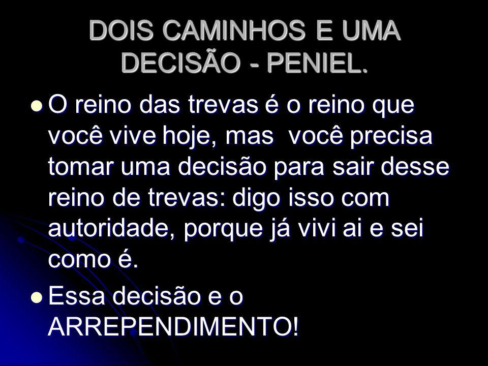 DOIS CAMINHOS E UMA DECISÃO - PENIEL.