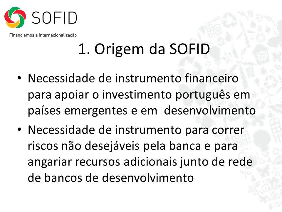 Necessidade de instrumento financeiro para apoiar o investimento português em países emergentes e em desenvolvimento Necessidade de instrumento para c