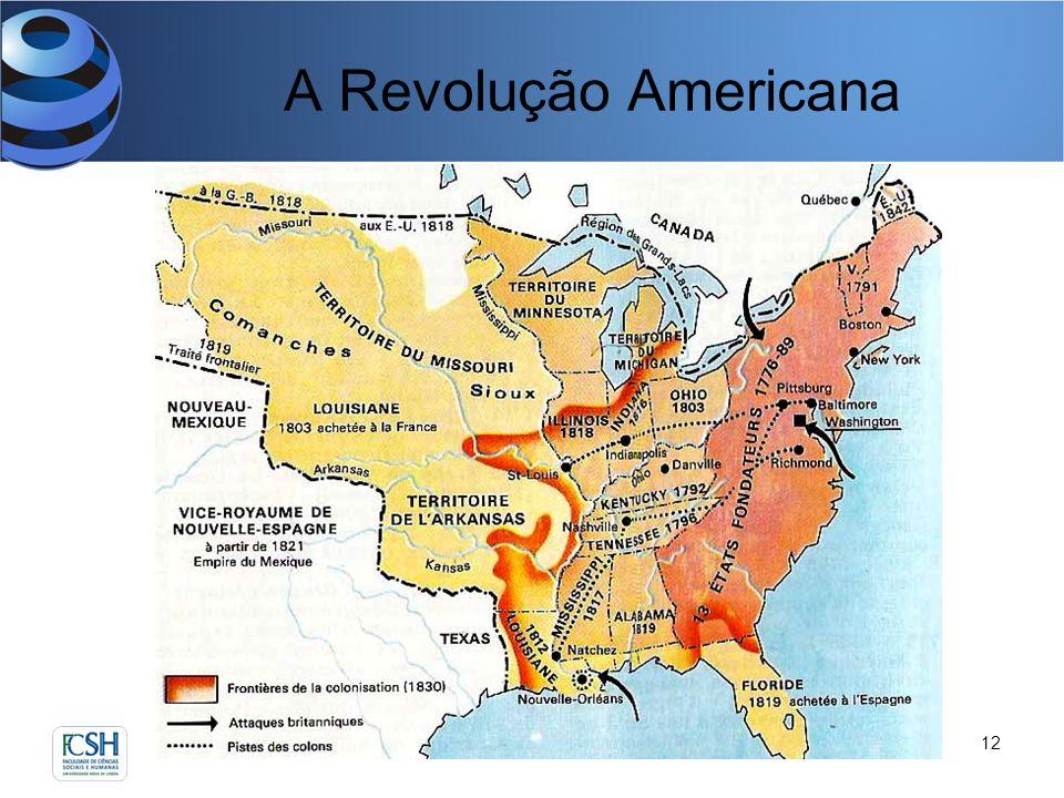 A Revolução Americana David Justino e Sílvia de Almeida12