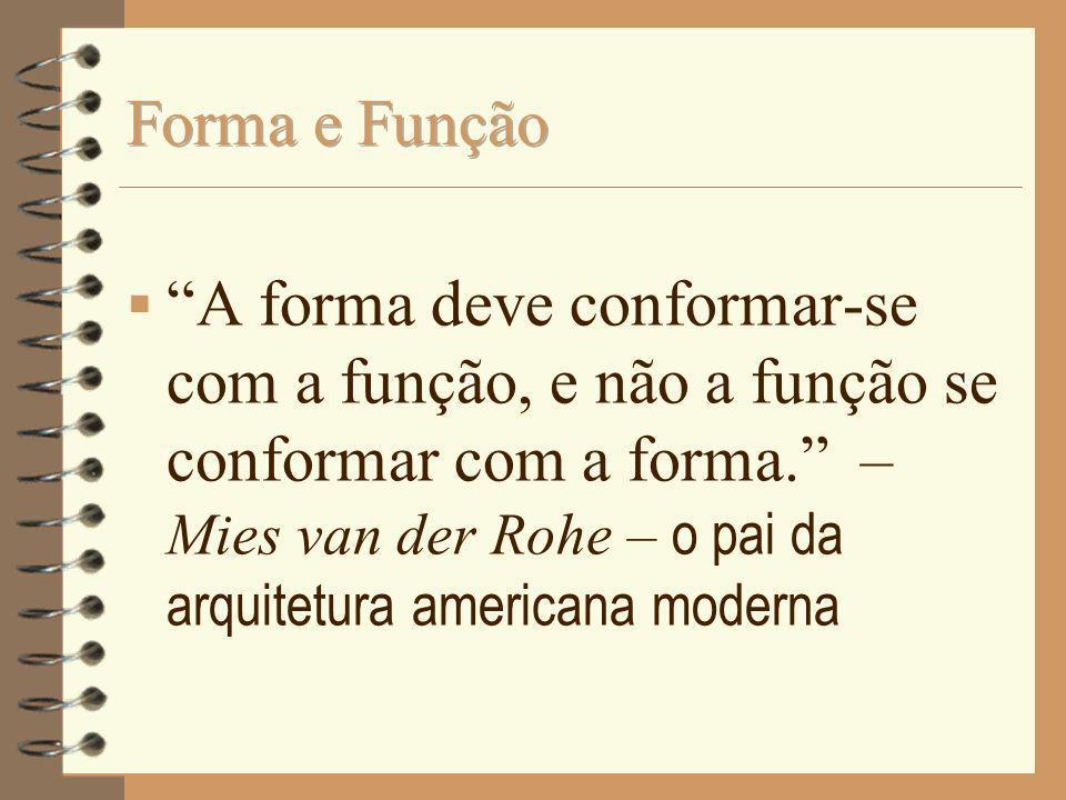 A forma deve conformar-se com a função, e não a função se conformar com a forma. – Mies van der Rohe – o pai da arquitetura americana moderna