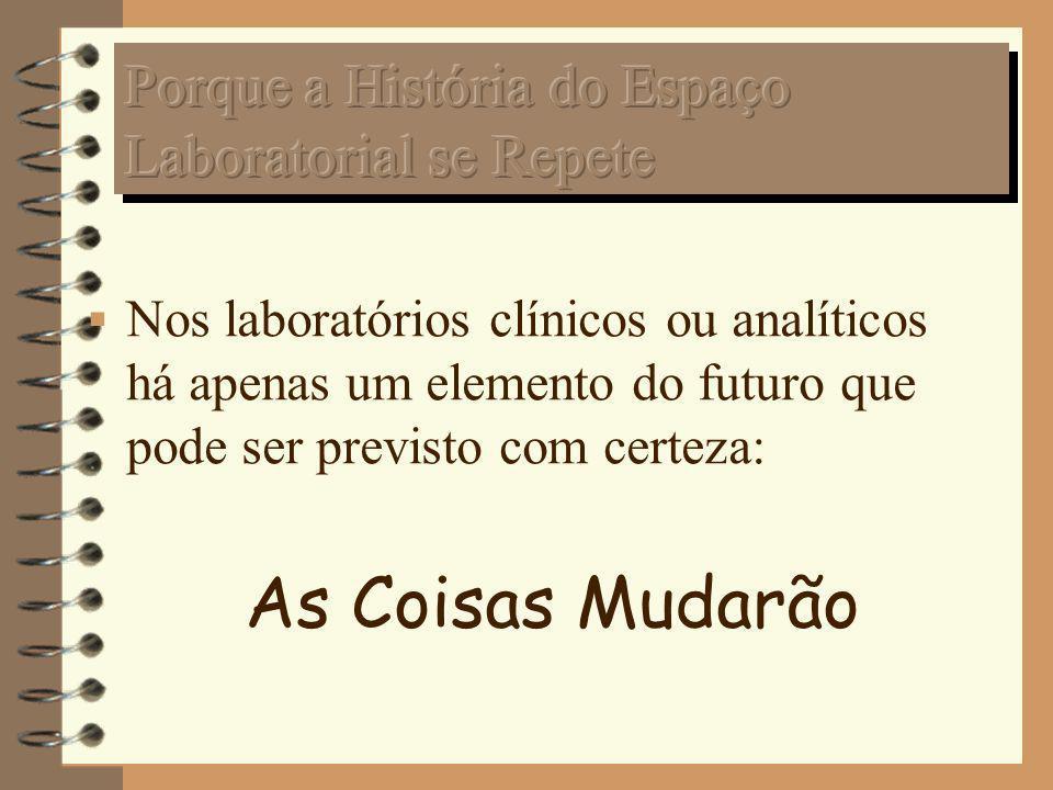 Nos laboratórios clínicos ou analíticos há apenas um elemento do futuro que pode ser previsto com certeza: As Coisas Mudarão