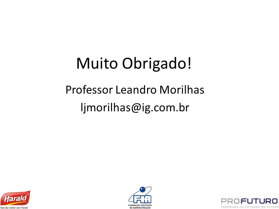 Muito Obrigado! Professor Leandro Morilhas ljmorilhas@ig.com.br