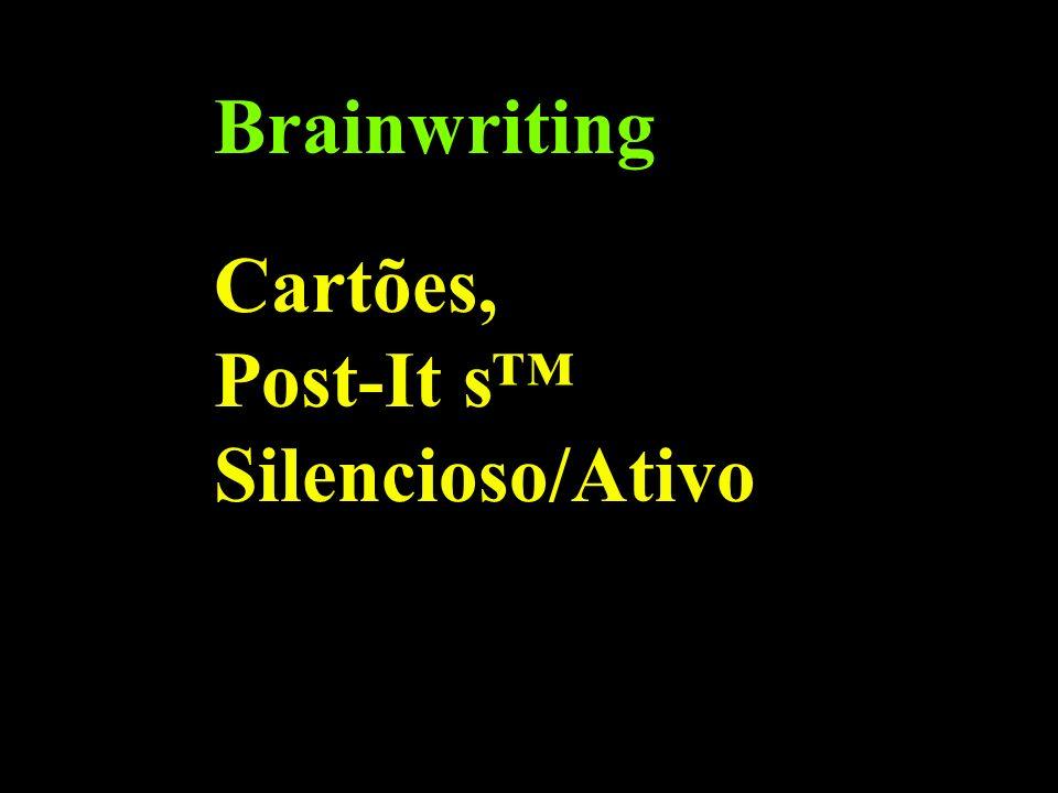Brainwriting Cartões, Post-It s Silencioso/Ativo