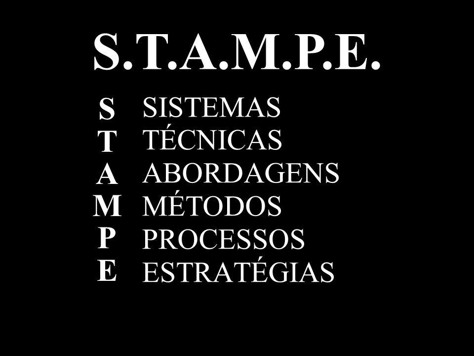 S.T.A.M.P.E. STAMPESTAMPE SISTEMAS TÉCNICAS ABORDAGENS MÉTODOS PROCESSOS ESTRATÉGIAS