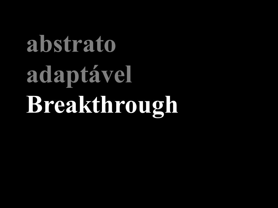 abstrato adaptável Breakthrough