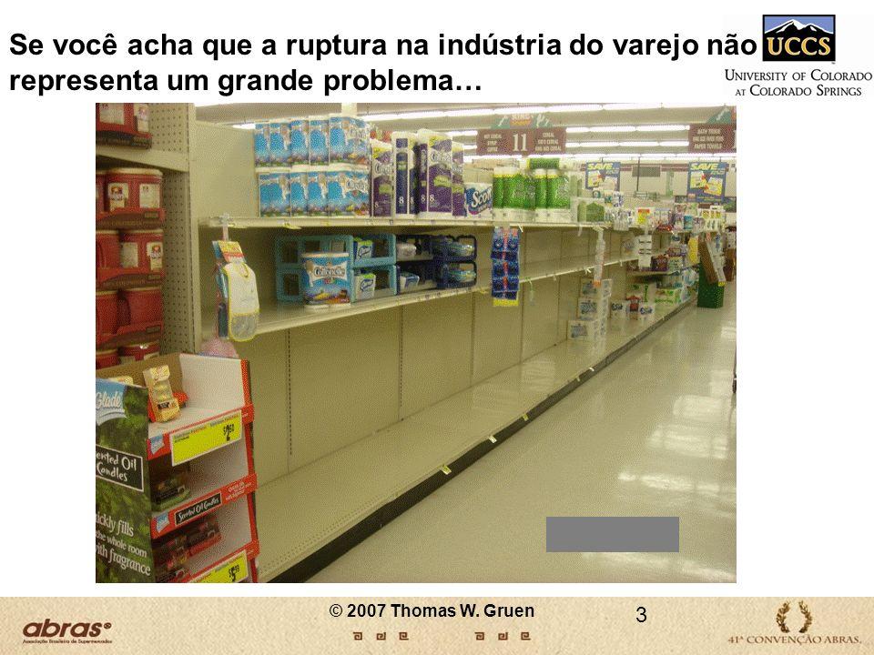 14 A RUPTURA DE PRODUTOS EM PROMOÇÃO Índice de Ruptura na Indústria do Varejo nos EUA: 7,9% Índice de Ruptura de Produtos em Promoção: 17,1% © 2007 Thomas W.