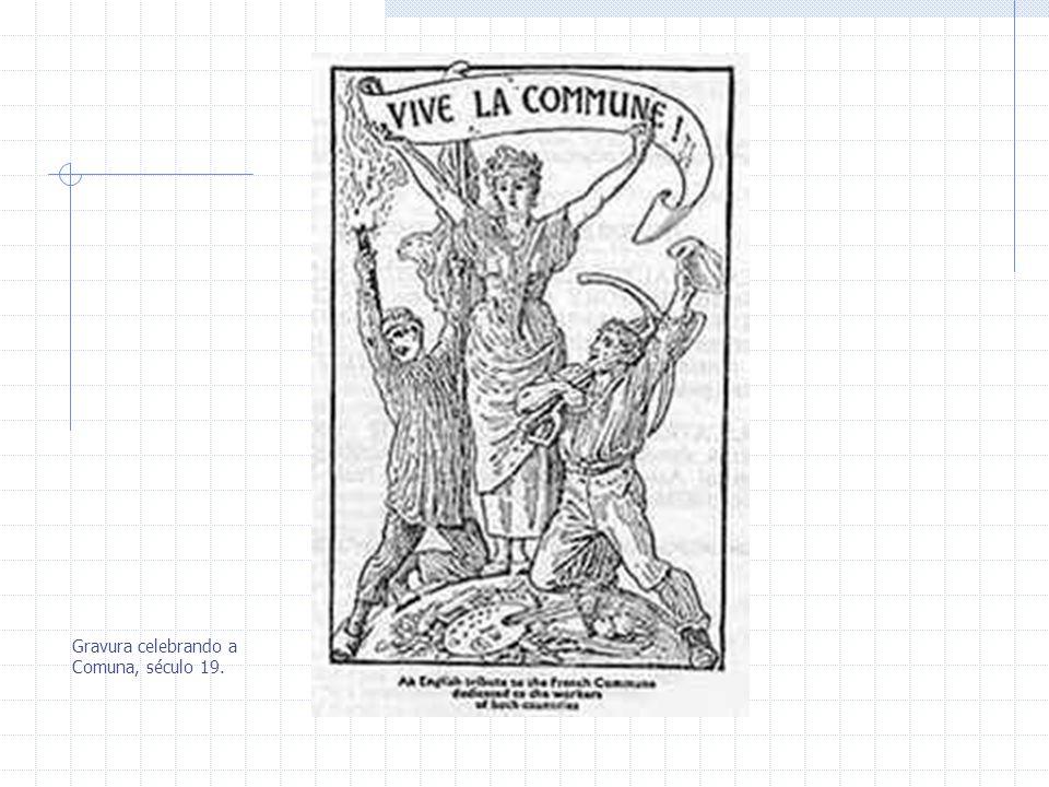 Gravura celebrando a Comuna, século 19.