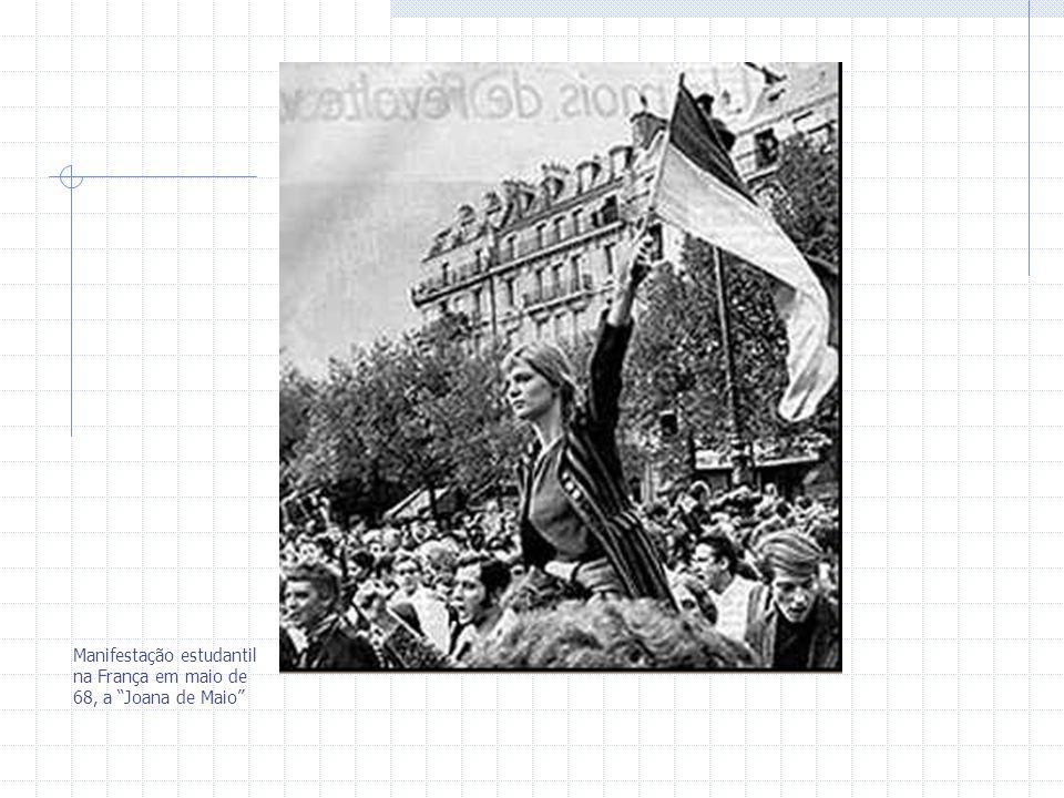 Manifestação estudantil na França em maio de 68, a Joana de Maio