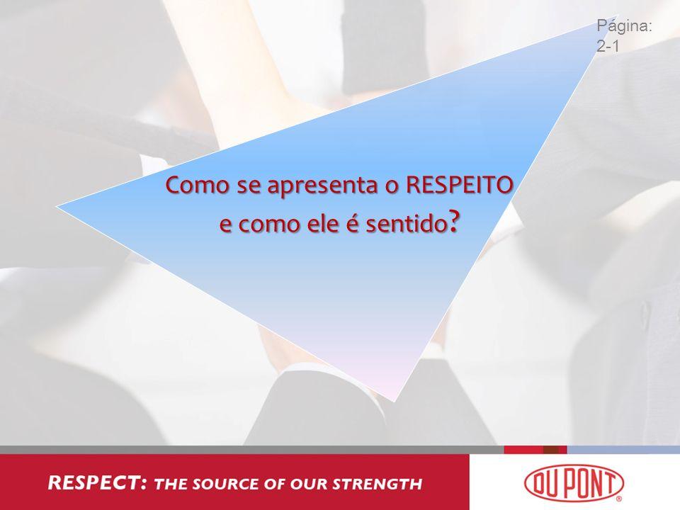 Como se apresenta o RESPEITO e como ele é sentido ? Página: 2-1