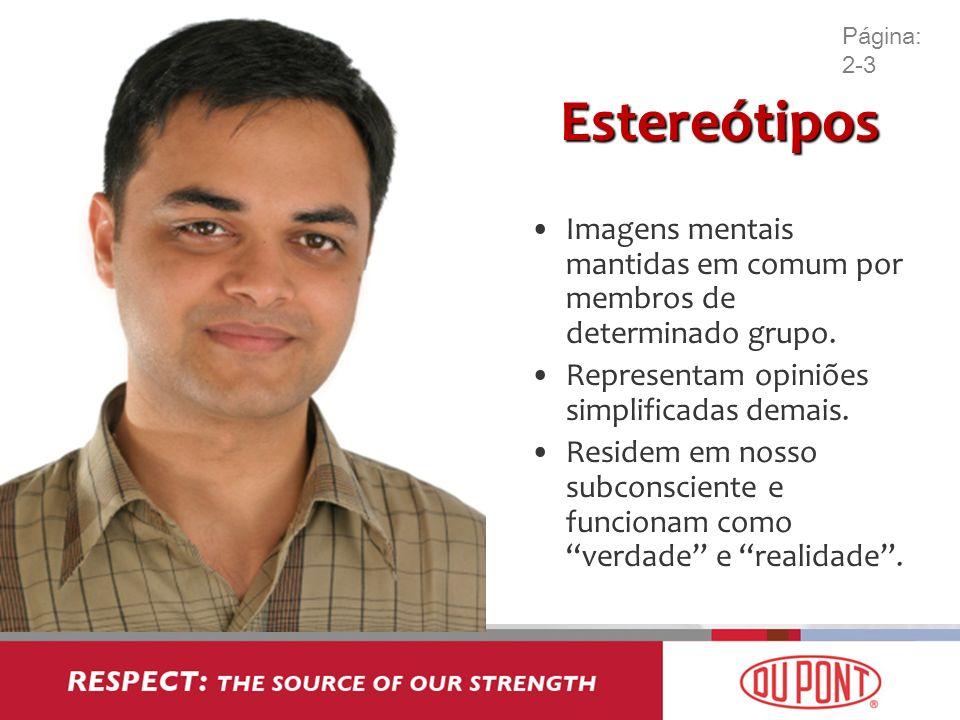 Estereótipos Imagens mentais mantidas em comum por membros de determinado grupo. Representam opiniões simplificadas demais. Residem em nosso subconsci
