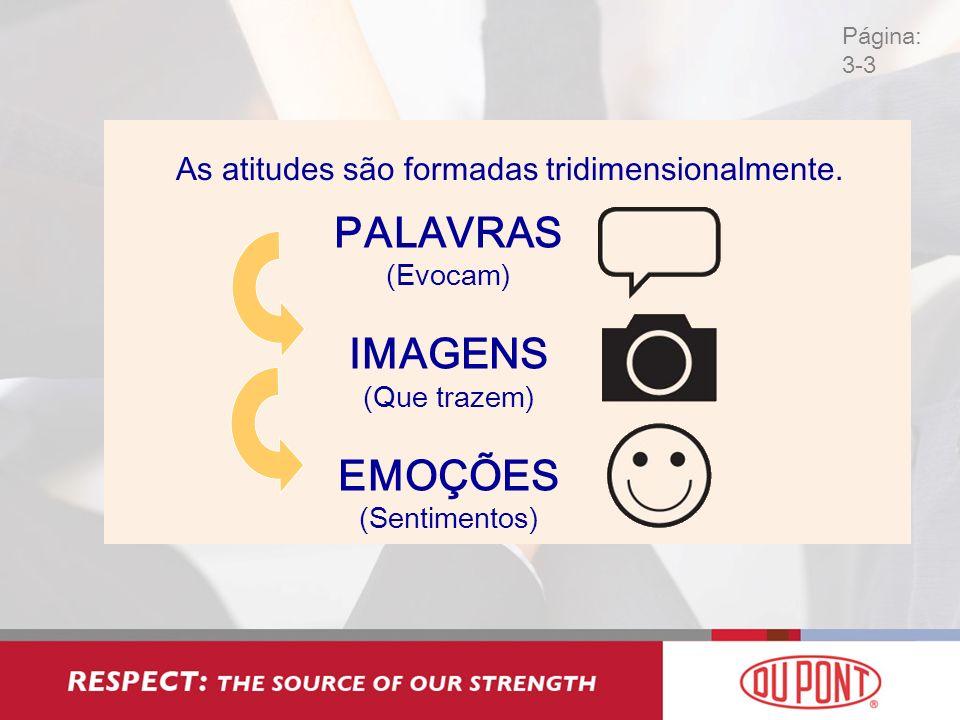 As atitudes são formadas tridimensionalmente. PALAVRAS (Evocam) IMAGENS (Que trazem) EMOÇÕES (Sentimentos)