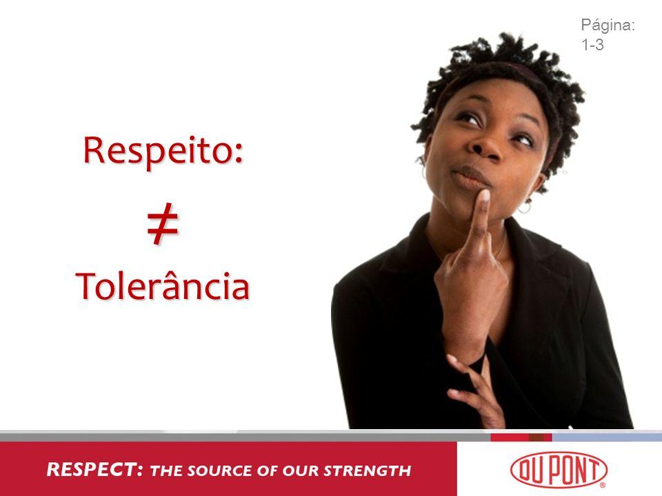 Respeito: Tolerância Página: 1-3