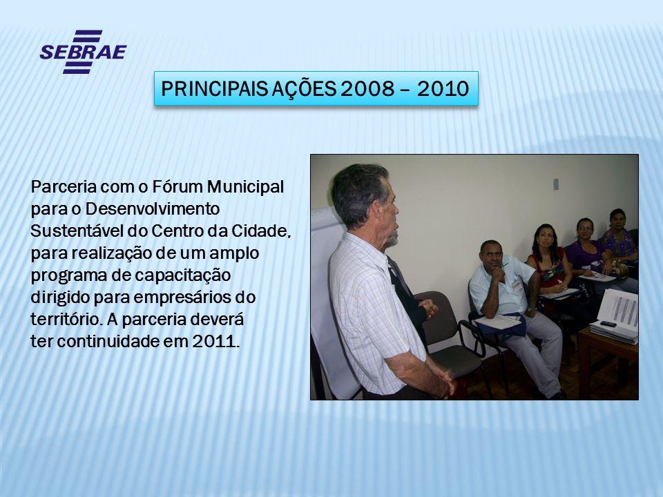 Parceria com o Fórum Municipal para o Desenvolvimento Sustentável do Centro da Cidade, para realização de um amplo programa de capacitação dirigido pa