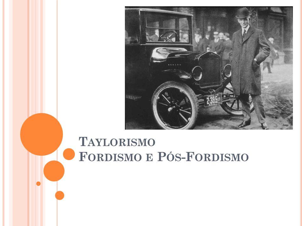 T AYLORISMO F ORDISMO E P ÓS -F ORDISMO