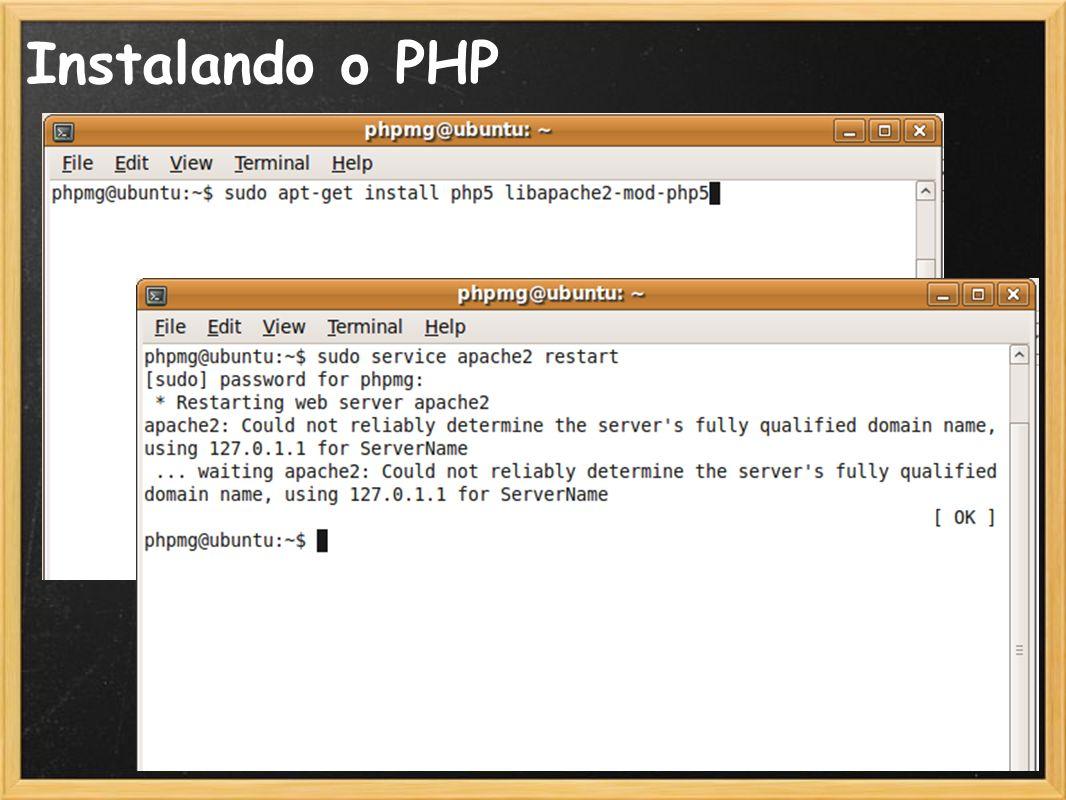 18 Instalando o PHP