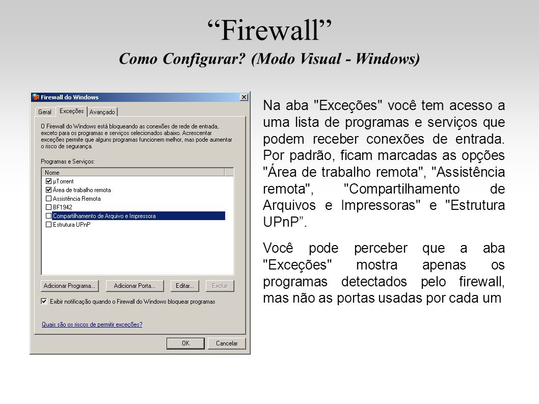 Firewall Como Configurar? (Modo Visual - Windows) Na aba