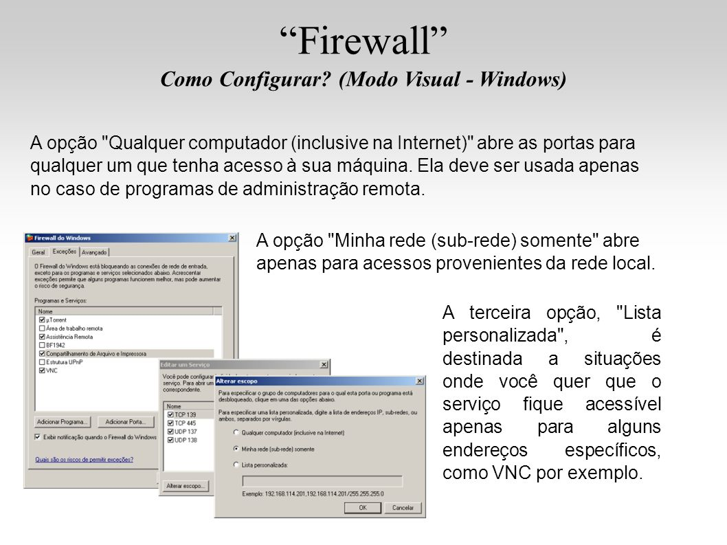 Firewall Como Configurar? (Modo Visual - Windows) A opção