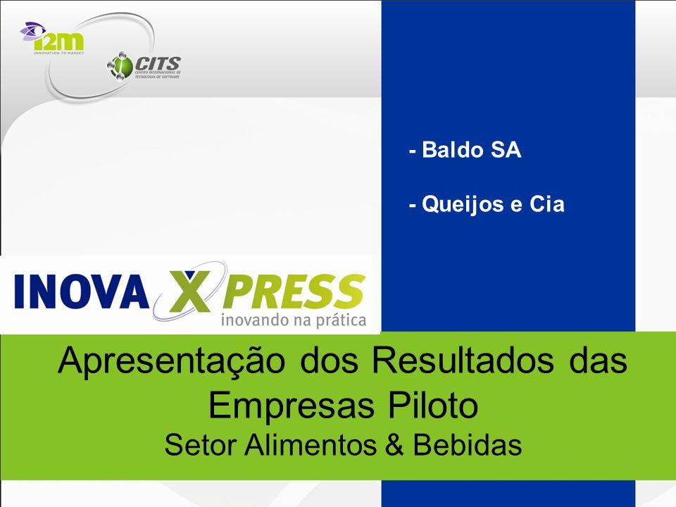 Apresentação dos Resultados das Empresas Piloto Setor Alimentos & Bebidas - Baldo SA - Queijos e Cia