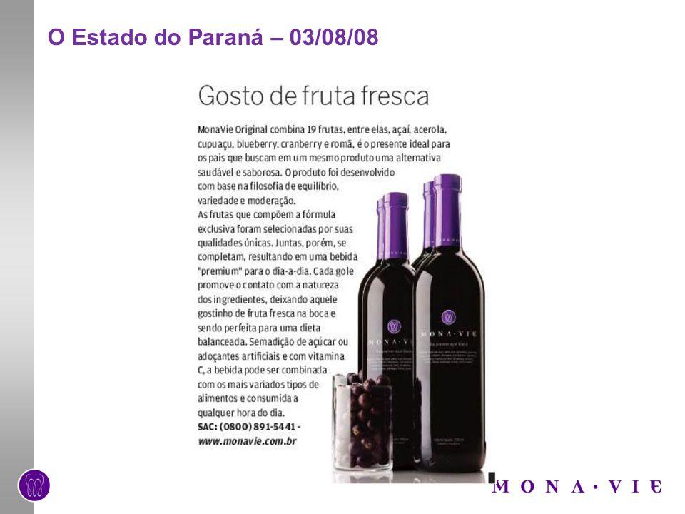 O Estado do Paraná – 03/08/08