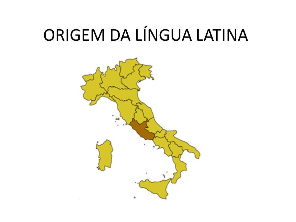 Latim – língua dos romanos, pertence à família das língua indo- européias (vasta família de grupos de línguas faladas no oeste da Ásia (Irã, Paquistão, Índia, Ceilão) e na Europa toda (e Américas depois da grandes navegações) com exceção do basco, húngaro e finlandês.